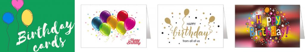 Happy birthday charity cards
